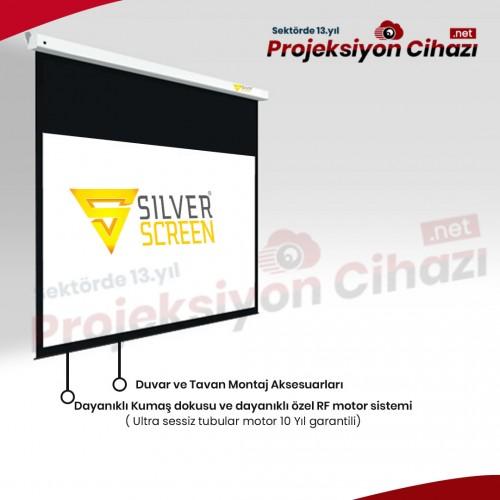 700x575 Motorlu Projeksiyon Perdesi SilverScreen M1 / CE / TSE Belgeli