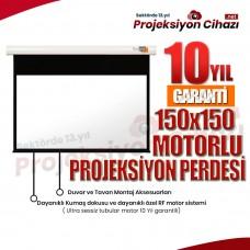 150x150 Motorlu Projeksiyon Perdesi (Sanper)