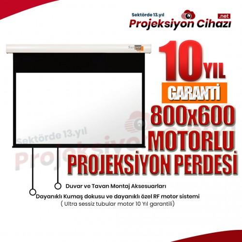 800x600 Motorlu Projeksiyon Perdesi (Sanper)